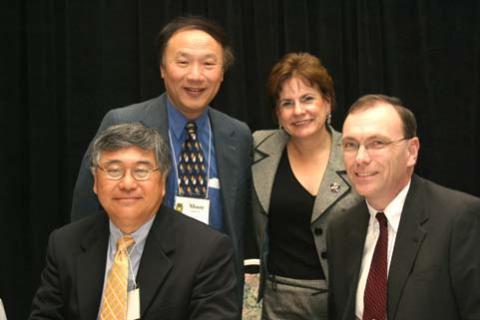 Moderator, Kenneth C. Chu, PhD, Chief Disparities Research Branch, NCI and SPN Panelists (l-r) Moon S. Chen, Jr., PhD; Amelie G. Ramirez, DrPH; and Stephen Wyatt, DMD.